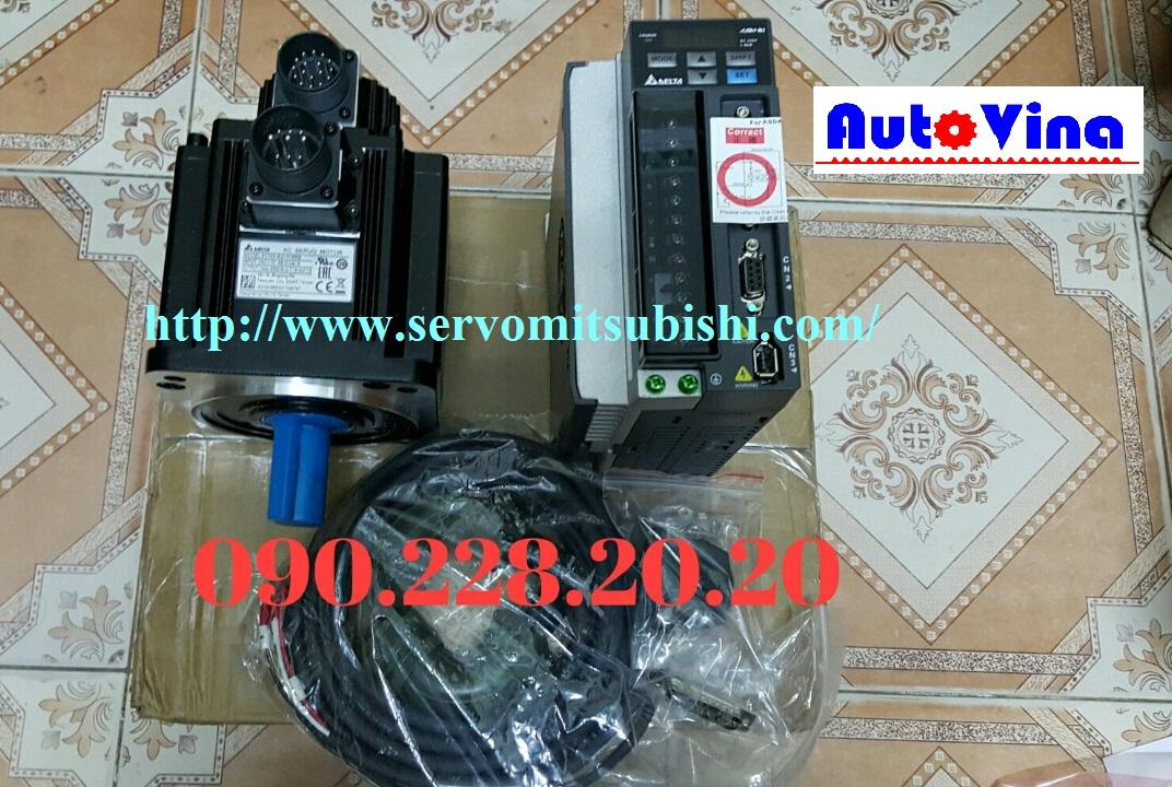 Đại lý AC Servo Delta 1.5kW, ASD-B2-1521-B và Motor ECMA-E21315RS trong kho công ty Auto Vina