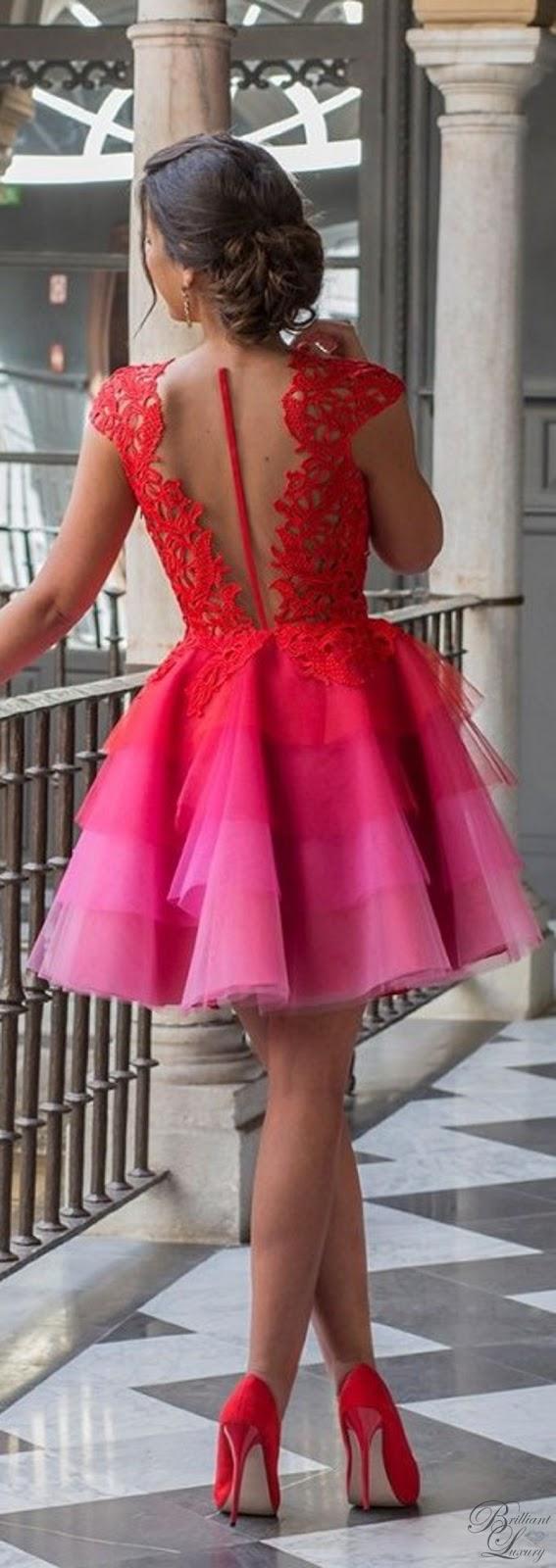 Brilliant Luxury ♦ Silvia Navarro Azahar laced tulle dress