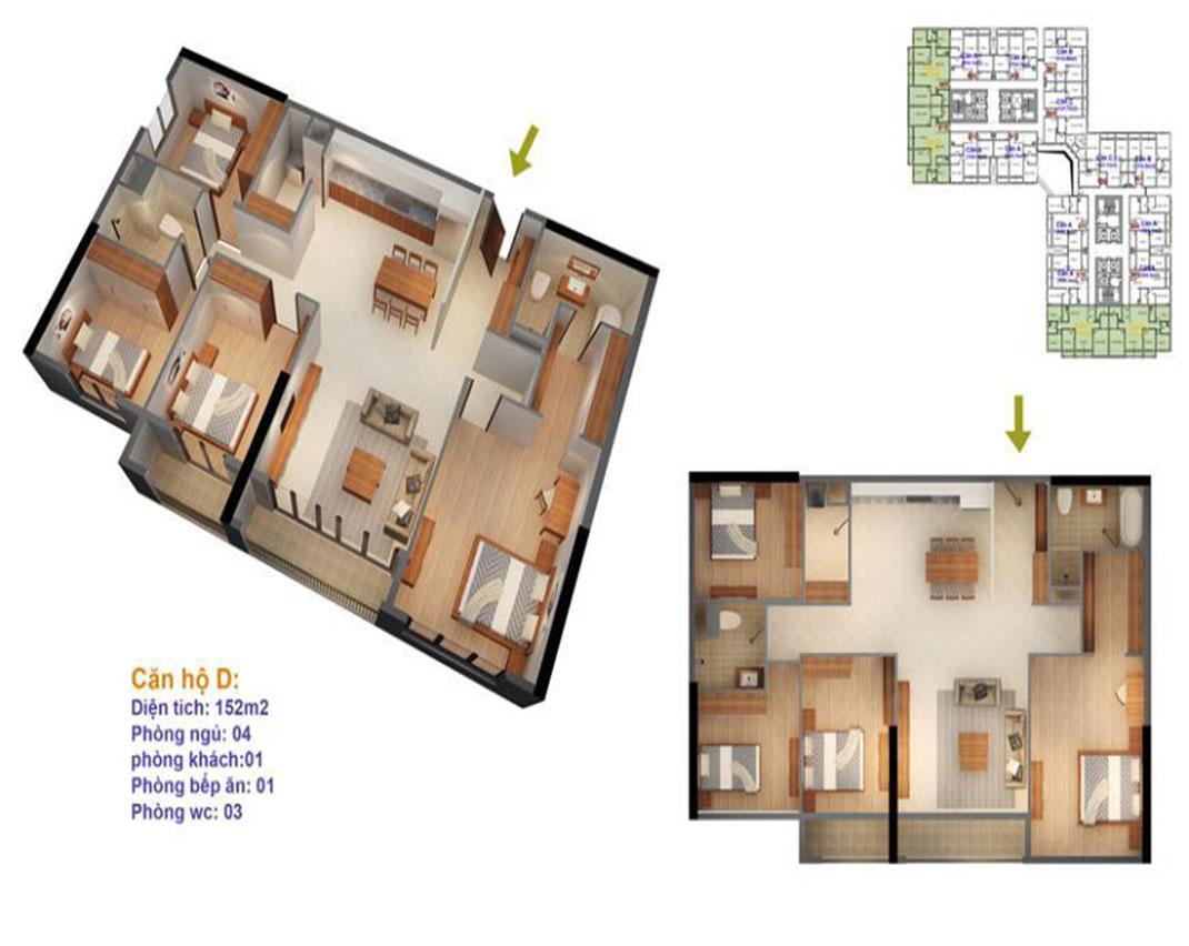 Thiết kế căn hộ 160m2 Ruby 4
