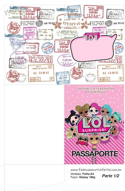 Pasaporte para Fiesta de LOL Surprise para Imprimir Gratis.