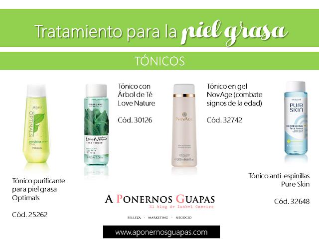 Tratamiento para la piel grasa Tónicos Oriflame A Ponernos Guapas