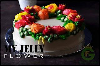 Jelly flower pekanbaru, kursus jelly flower pekanbaru, kursus kue pekanbaru, pesan jelly flower di pekanbaru