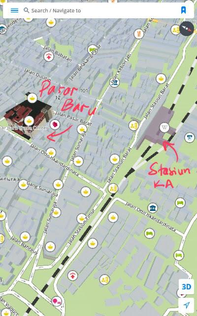 Peta Stasiun Kereta Api Bandung, peta, map, petunjuk jalan, rute, lokasi, stasiun kereta, bandung