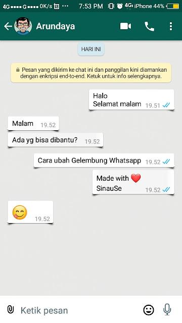 Cara Mengubah Gelembung Whatsapp - 11