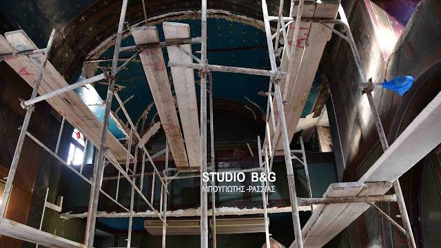 Ξεκίνησαν οι εργασίες ανακαίνισης στον ιστορικό ναό του Αγίου Σπυρίδωνα στο Ναυπλιο