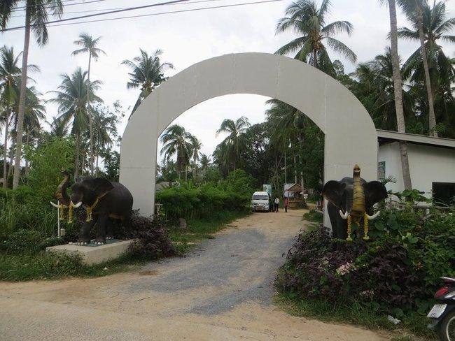 Арка в слоновый парк