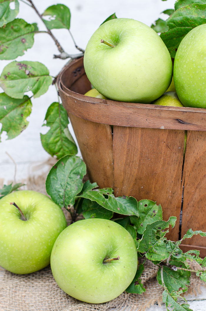 Basket of Granny Smith Apples