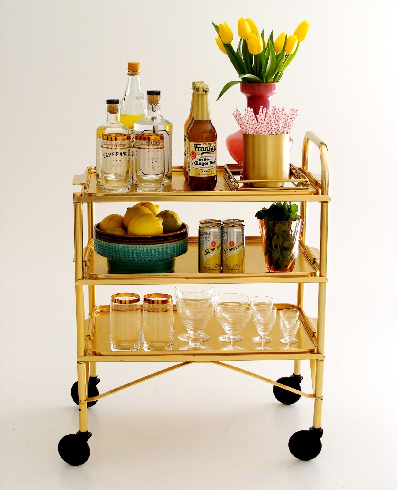 Vintage Bar Cart >> Vamp Furniture Vintage Bar Cart Available At Vamp 30 March