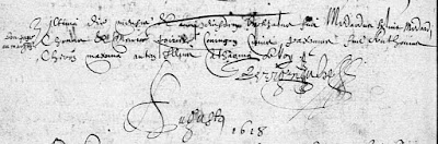 Baptism record of Chouart des Groseilliers