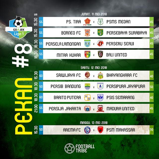 Jadwal Liga 1 Pekan 8 - Siaran Langsung TV Indosiar & OChannel