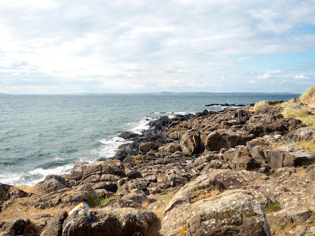 Coast line around East Lothian, Scotland