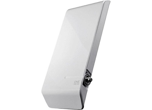 A antena para TV digital One for All - SV9450 deve ser instalado em ambientes externos e oferece recepção para ondas de rádio e TV