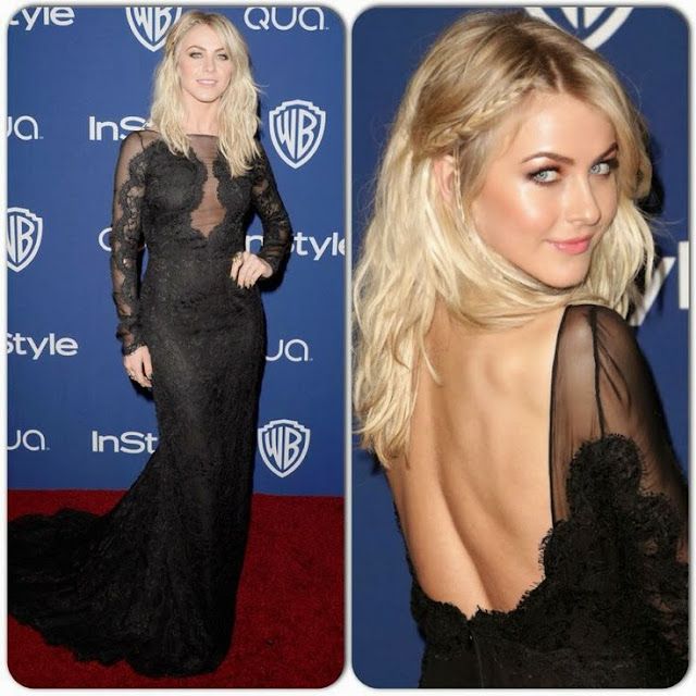 Julianne Hough in Emilio Pucci – InStyle and Warner Brothers Golden Globes  Awards Party