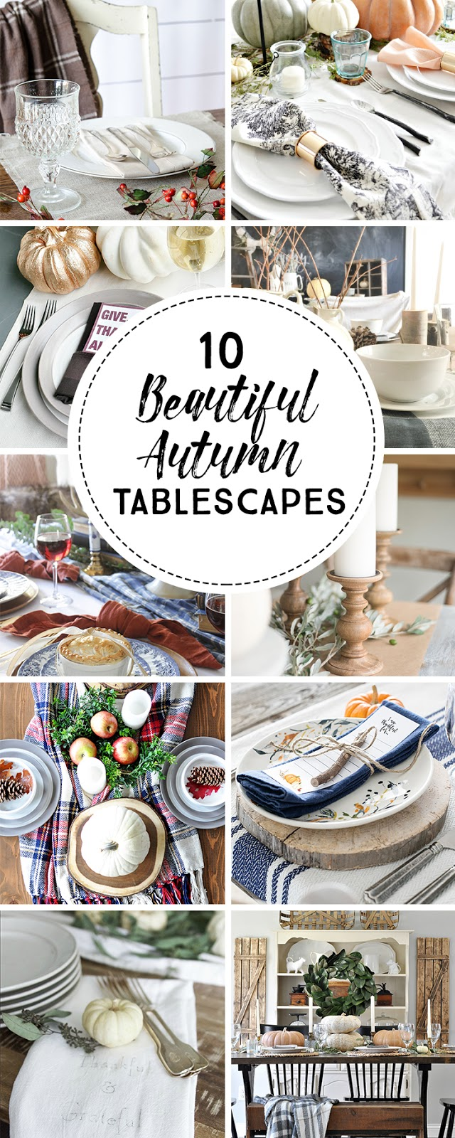 10 Beautiful Autumn Tablescapes