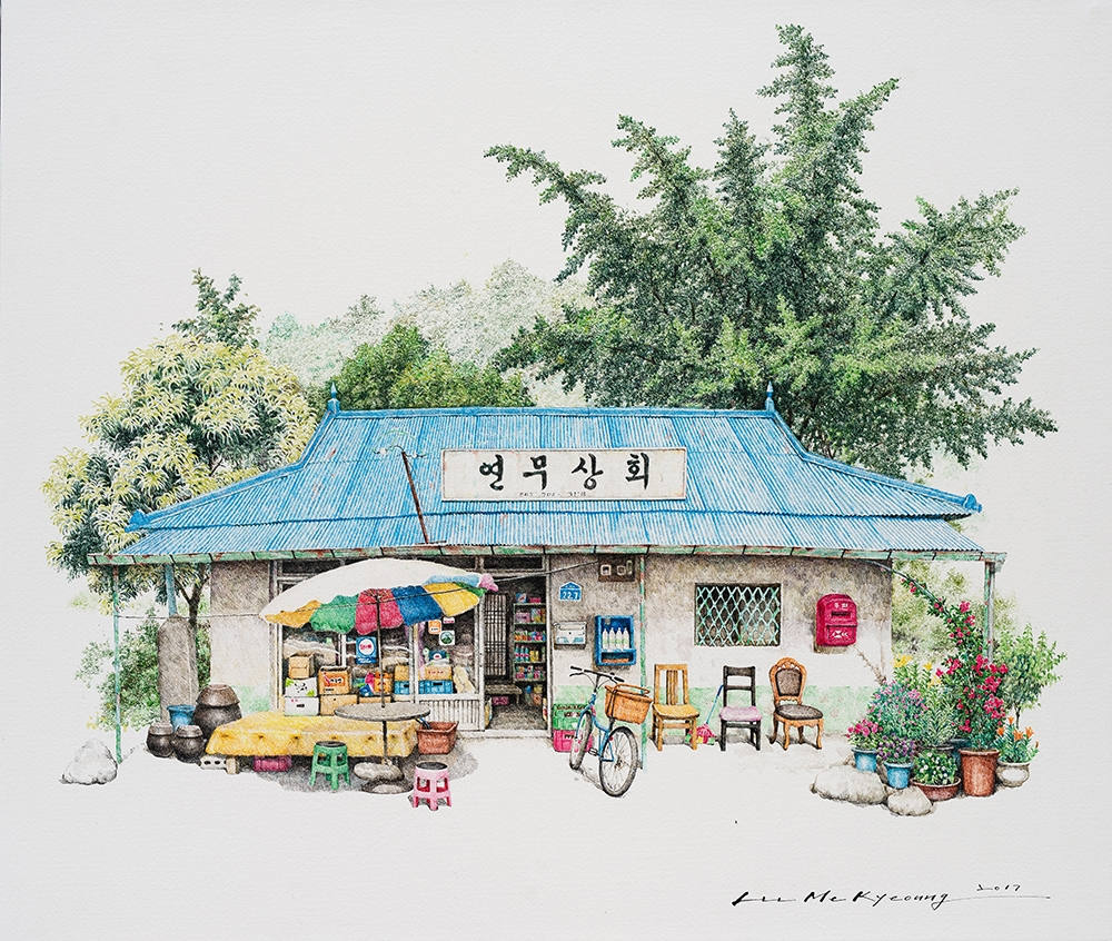 12-Yeonmoo-Me-Kyeoung-Leehas-Pencil-Drawings-of-Convenience-Stores-in-South-Korea-www-designstack-co