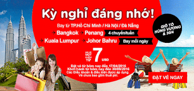 Air Asia khuyến mãi vé đi Singapore giá rẻ