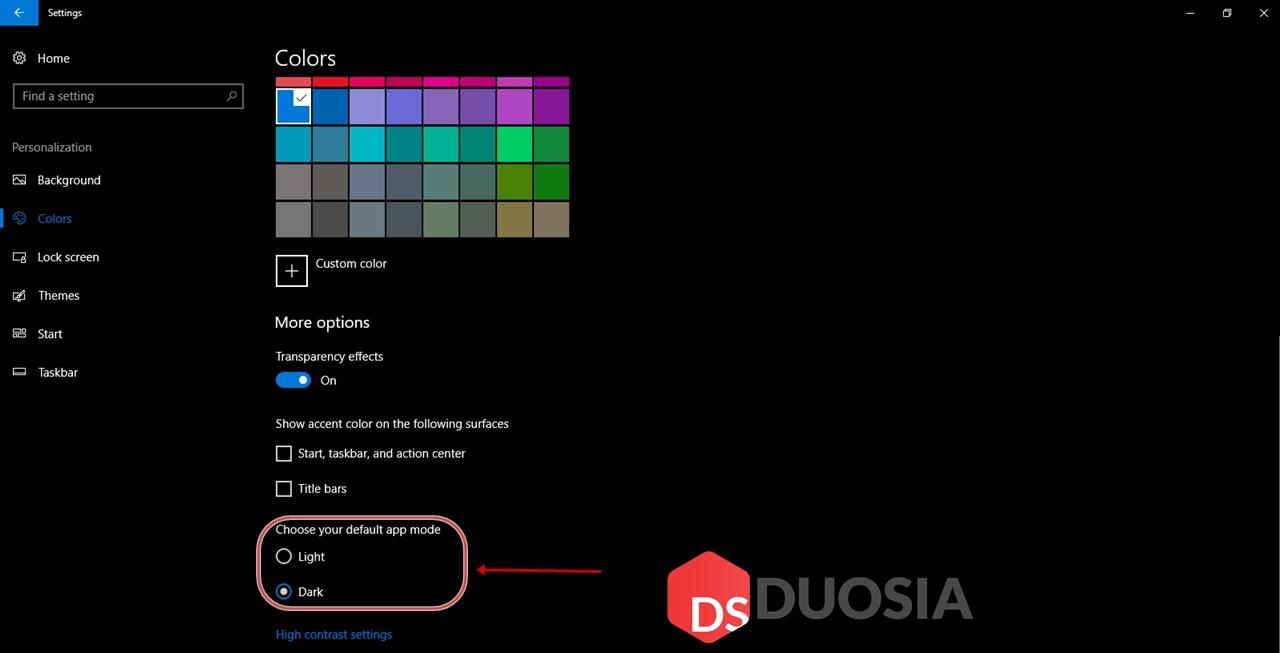 Menyalakan Dark Mode Pada Setting Windows 10