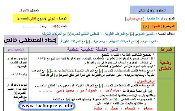 جذاذات القراءة للمستوى الاول الأسبوع الثاني من الوحدة الاولى حرف الميم مرجع في رحاب اللغة العربية