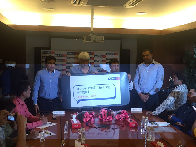 "Aircel launches ""Roz EkKahani Vikram Ki Zubani"" audio content created by noted filmmaker Vikram Bhatt on mobile"