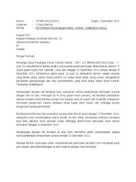 Contoh Surat Addendum
