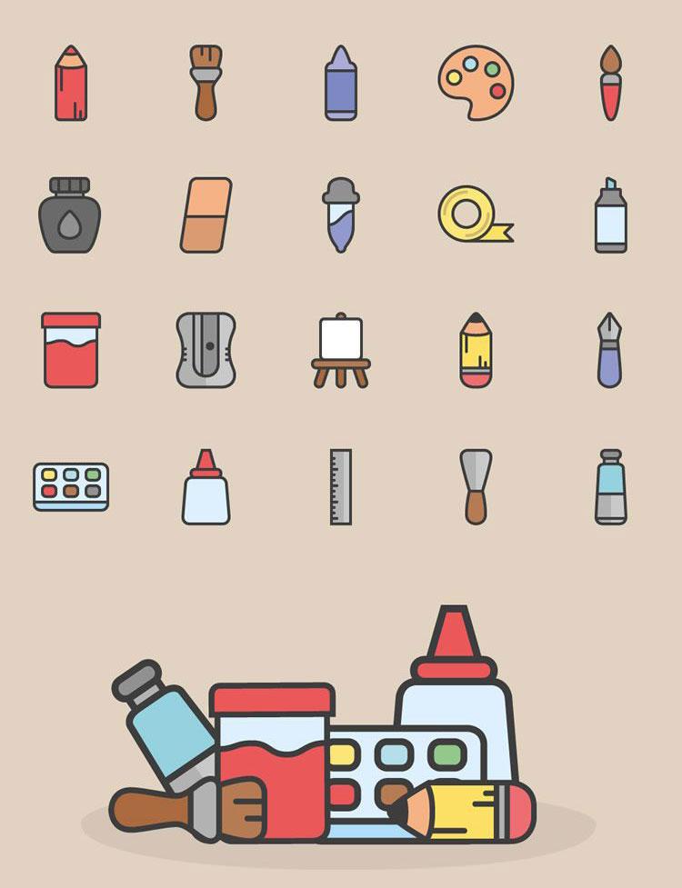 The Art Tools Icon Set