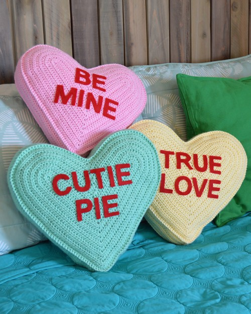Conversation Heart Pillow - Free Pattern