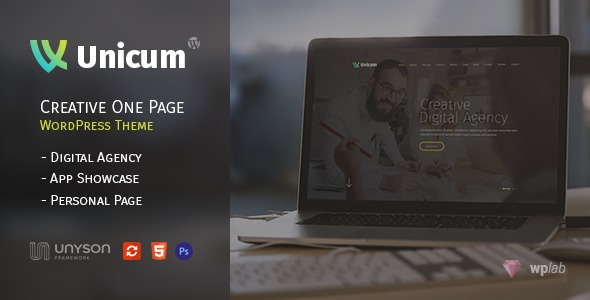Free Premium One Page WordPress Theme