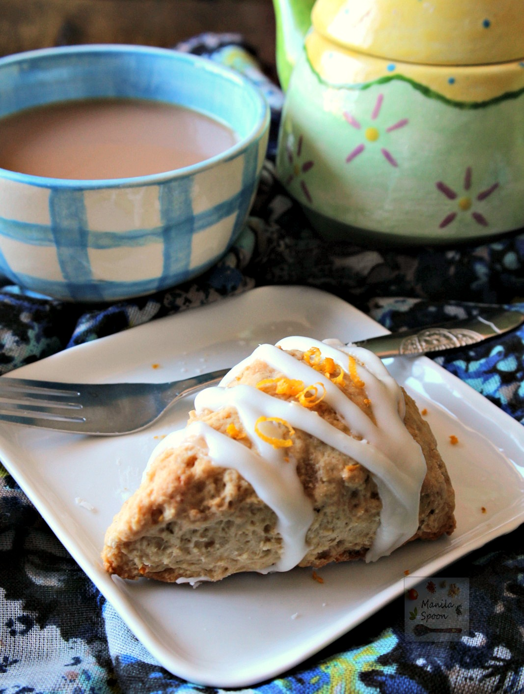 Packed with flavor and easy to make, these delicious Lemon Cardamom Scones are great with your coffee or tea. | manilaspoon.com