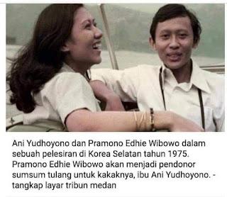 Ibu Ani Yudhoyono Akan Dapat Sumsum Tulang Belakang Dari Adiknya