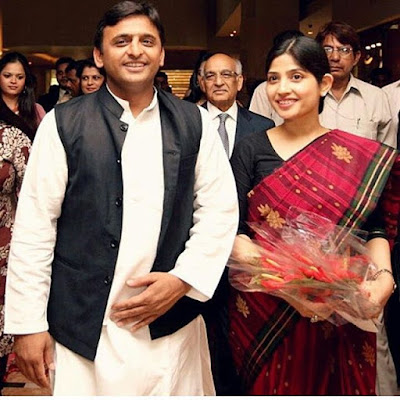 Dimple Yadav with husband Akhilesh Yadav