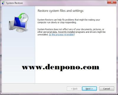 Cara Memperbaiki Komputer Dengan System Restore Cara Memperbaiki Komputer Dengan System Restore