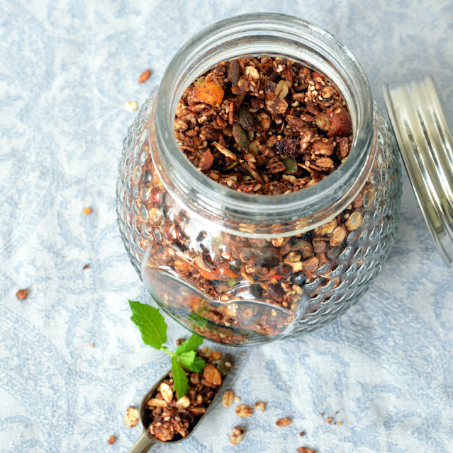 granola%2Bczekoladowa Granola czekoladowa