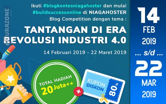 Kompetisi Blog - Niagahoster Berhadiah Uang Tunai, Hosting, Merchandise dan Kupon Menarik (22 Maret 2019)