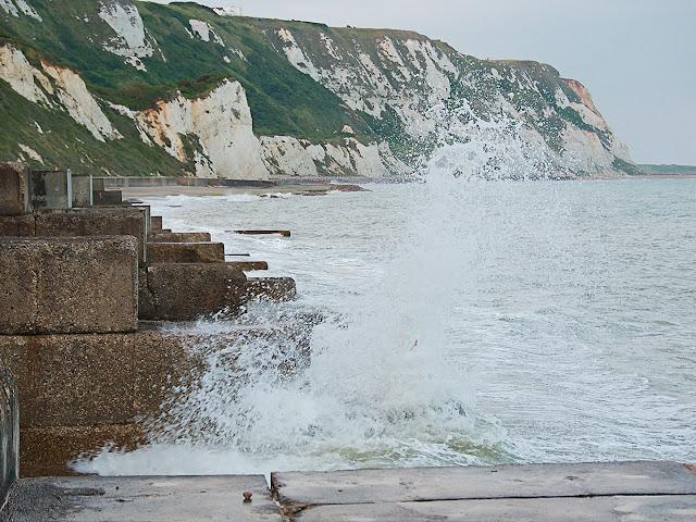 Kent folkestone beach küstenschutz