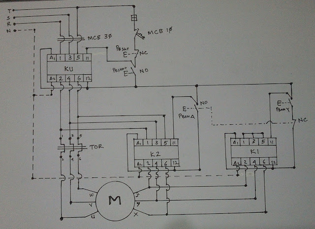 StarDelta Wiring Diagram  Electrical Blog