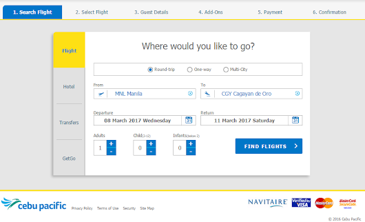 How to Book Cebu Pacific Flight Online [Step-by-step guide with screenshot] | Jeff Man