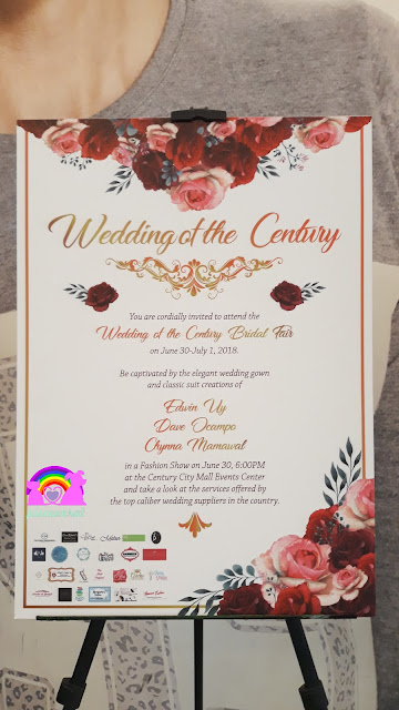 4th and 5th floors of the Century City Mall, the wedding event was FREE entrance, just register at the front.   Aptly dubbed Wedding of the Century, its decorations  and ambiance will surely put one in a romantic mood.