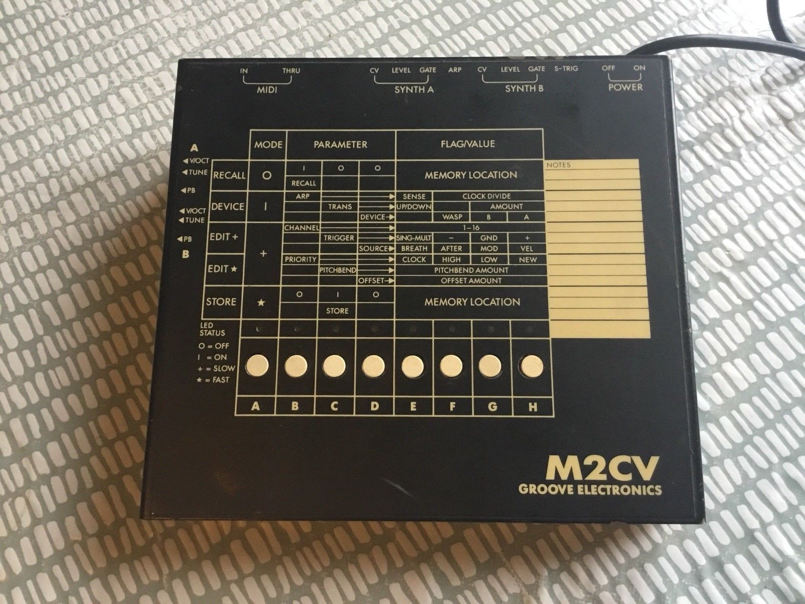 MATRIXSYNTH: Groove electronics M2CV Midi Converter w/ S-Trig