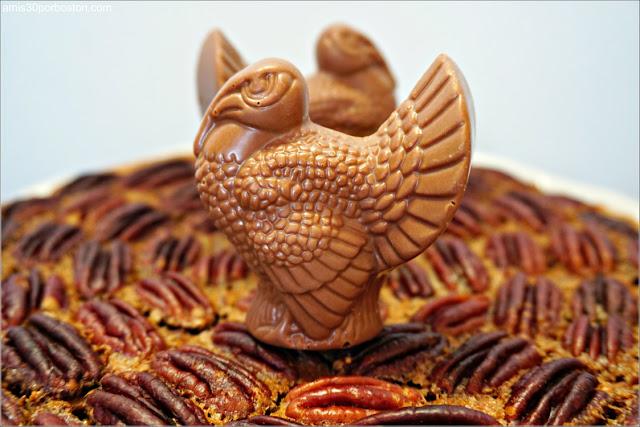 Chocolate Bourbon Pecan Pie con los Pavos de Chocolate