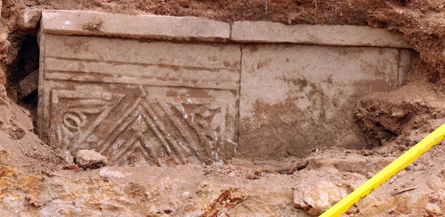 Ancient sarcophagus discovered during road work in Istanbul