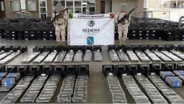 Vídeo: MILITARES aseguran casi una tonelada de cocaína camuflada en una carga de aguacate procedente de Michoacan