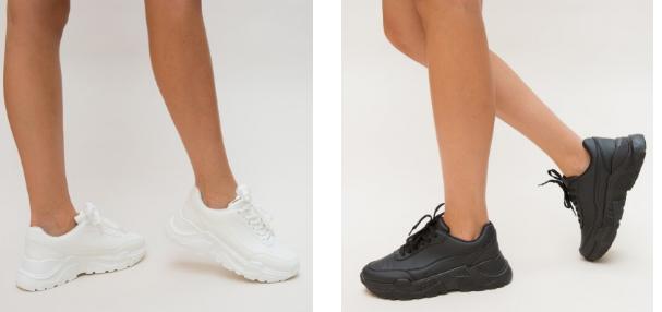 Adidasi dama de primavara moderni negri, albi fashion