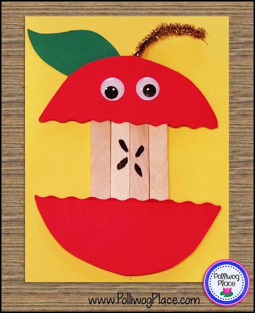 Apple Craft: Craft Stick Apple