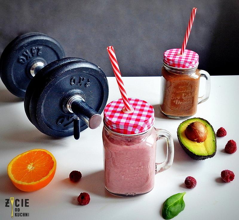 koktajl, smoothie, dieta sportowca, co jesc po treningu, smoothie z malinami, koktajl z owsianka, koktajl bialkowy, okno anaboliczne, glikogen, efektywny trening, maliny poltino, maliny, zycie od kuchni