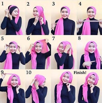 Kreasi Jilbab Segi Empat 1