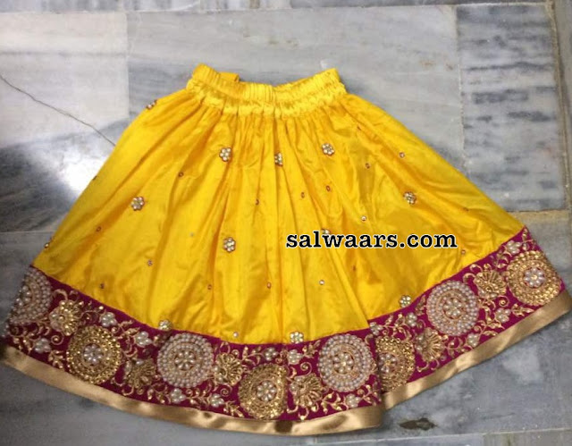 Baby Lehenga with Zardosi Blouse