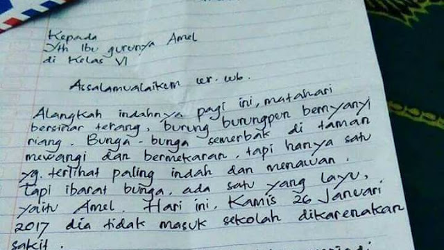 Surat Izin Sakit ditulis dengan Puitis