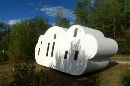 Something Amazing Unusual Wooden Cloud Shaped House