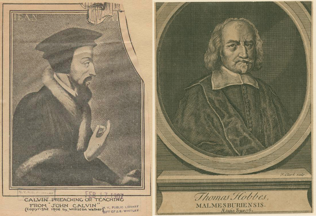 John Calvin and Thomas Hobbes, courtesy of the NYPL