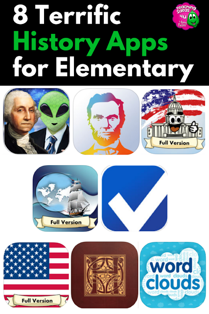 Are you looking for U.S. or world history apps to use in your upper elementary or middle school classroom? Check out these eight terrific history apps!